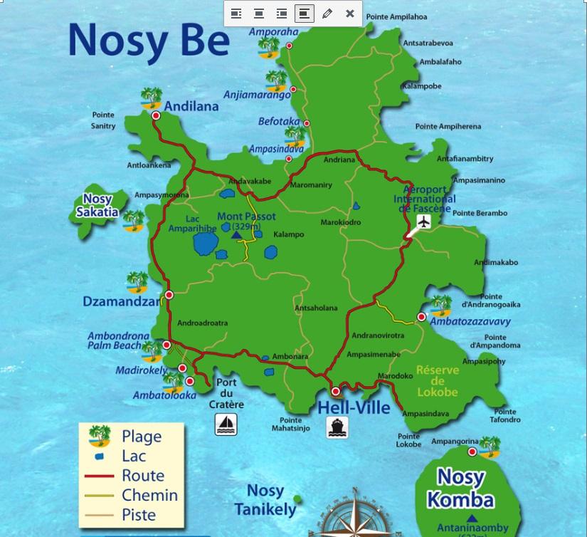 Nosy Be location vacances à Andilana, contactez-nous !